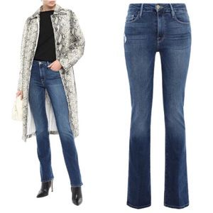 FRAME DENIM Le Mini Bootcut Jeans in Blondie